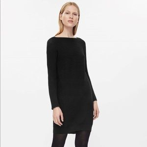 Black ribbed wool COS sweater dress